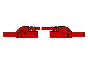 CONTACT PROTECTED INJECTION-MOULDED MEASURING LEAD 4mm 25cm / RED (MLB-SH/WS 25/1) (HM0411S25A)