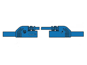 CONTACT PROTECTED INJECTION-MOULDED MEASURING LEAD 4mm 25cm / BLUE (MLB-SH/WS 25/1) (HM0421S25A)