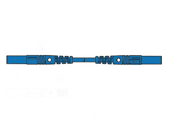 CONTACT PROTECTED INJECTION-MOULDED MEASURING LEAD 4mm 50cm / BLUE (MLB/GG-SH 50/1) (HM0421S50)