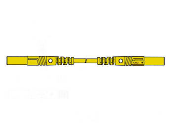 SPUITGEGOTEN MEETSNOER MET CONTACTBEVEILIGING 4mm 25cm / GEEL (MLB/GG-SH 25/1) (HM0431S25)