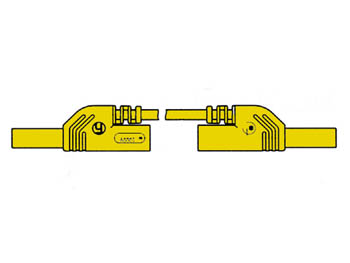 CONTACT PROTECTED INJECTION-MOULDED MEASURING LEAD 4mm 25cm / YELLOW (MLB-SH/WS 25/1) (HM0431S25A)
