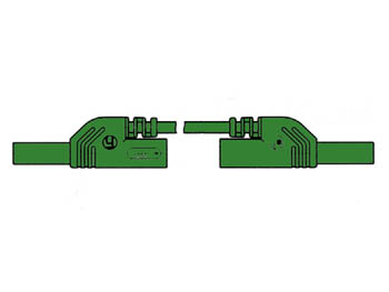 CONTACT PROTECTED MEASURING LEAD 4mm 50cm / GREEN (MLB-SH/WS 50/1) (HM0441S50A)