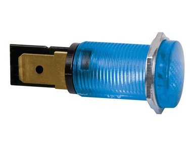 RONDE SIGNAALLAMP 14mm 12V BLAUW (HRJC012B)