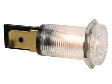 RONDE SIGNAALLAMP 14mm 12V HELDER (HRJC012C)