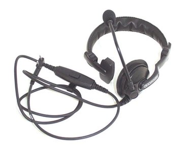 KENWOOD® KHS-7A single muff headset with boom mic, PTT (KNWA010)