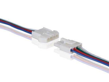 CONNECTOR VOOR RGB  LEDSTRIP - MET KABEL (MANNELIJK-VROUWELIJK) (LCON13)