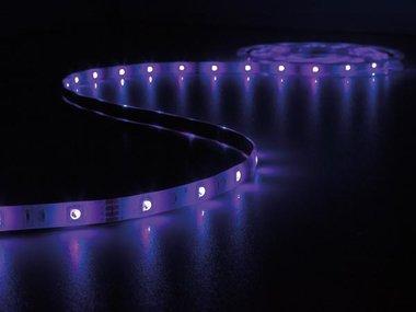 KIT MET MUZIEKGESTUURDE LED-STRIP, CONTROLLER EN VOEDING - RGB - 150 LEDs - 5 m - 12 VDC (LEDS11SRGB)