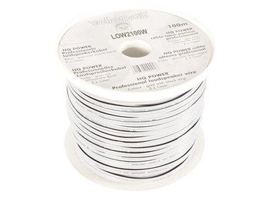 LUIDSPREKERKABEL - WIT - 2 x 1.00 mm² - 100 m (LOW2100W)
