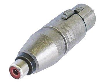3-PIN XLR VROUWELIJK NAAR RCA/PHONO VROUWELIJK (NA2FPMF)