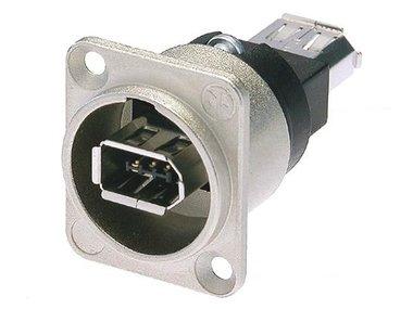 NEUTRIK - FIREWIRE 6 MET IEEE1394 6-POLIGE CONNECTOREN (NA-1394-6)