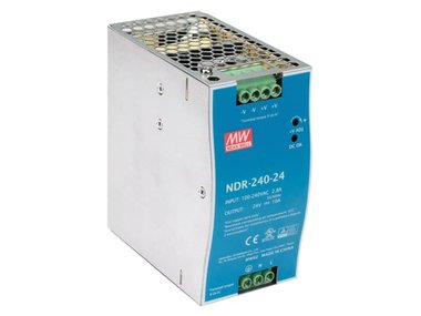 240 W SINGLE OUTPUT INDUSTRIAL DIN RAIL POWER SUPPLY 24 V 10 A (NDR-240-24)