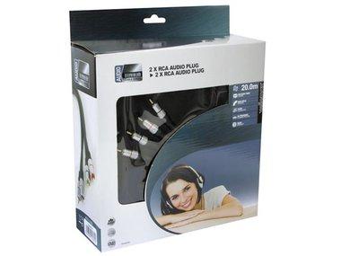 2 x RCA AUDIO PLUG NAAR 2 x RCA AUDIO PLUG / PROFESSIONEEL / 20.0m (PAC204T200)