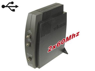 2-KANAALS PC OSCILLOSCOOP MET USB INTERFACE (PCSU1000)