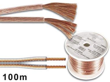 LUIDSPREKERKABEL 2 x 1.50mm² TRANSPARANT (PLW215)