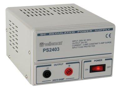 VASTE PROFESSIONELE VOEDING 24V / 3A (PS2403)