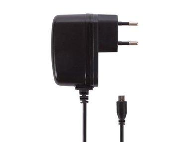 COMPACTE LADER MET MICRO-USB-AANSLUITING - 5 VDC - 2.5 A MAX. - 12.5 W - ZWART (PSSEUSB26B)