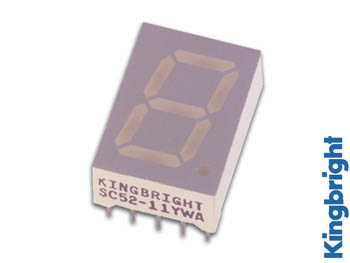 13mm SINGLE-DIGIT DISPLAY GEMEENSCHAPPELIJKE CATHODE GEEL (SC52-11YWA)