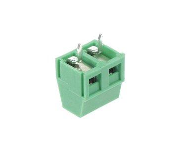 PROFESSIONELE SCHROEFKLEM, KLEMTYPE, 2-POLIG, GROEN, 5mm PITCH (SCREW02PGL5)