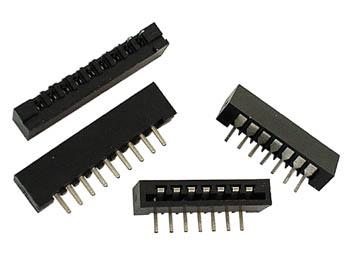ZIF CONNECTOR - VERTICAAL TYPE - 12 CONTACTEN (TE12)