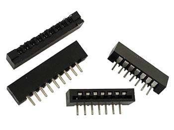 MEMBRANE KEYBOARD CONNECTOR - TOP ENTRY - 6 CONTACTS (TE6)