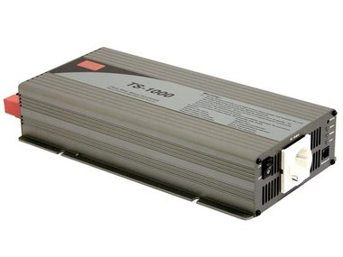 MEAN WELL - DC-AC INVERTER MET ZUIVERE SINUSGOLF  - 1000 W - DUITS STOPCONTACT (TS-1000-212B)
