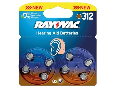 RAYOVAC ZINC AIR KNOOPCEL 1.4V-160mAh 4607.745.418 (8st/bl) (V312R)