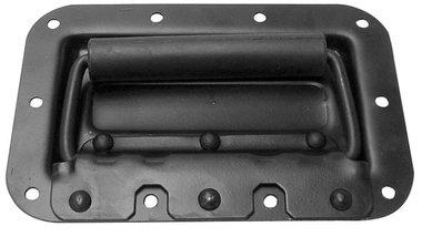 HANDVAT VOOR LUIDSPREKER, MET VEER, ZWART METAAL, 161 x 107mm (VDAC08)