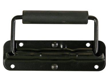 HANDVAT VOOR LUIDSPREKER, MET VEER, ZWART METAAL, 140 x 40mm (VDAC09)