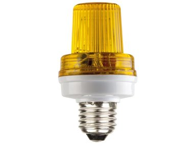 MINI FLITSLAMP GEEL, 3.5W, E27 FITTING (VDLSLY)