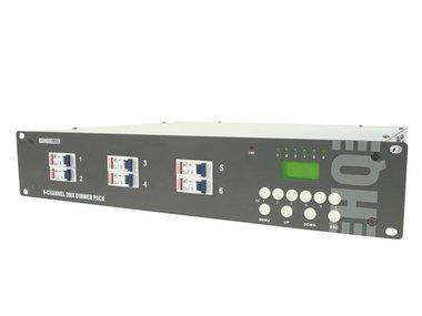 6-KANAALS DMX DIMMERPACK (6 x 10A) MET LCD (VDPDP134D)