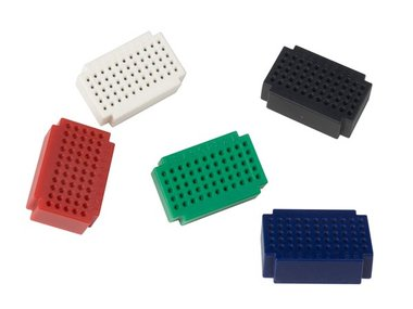 SET MINI BREADBOARDS - 55 INSTEEKPUNTEN - 5 st. (VTBB6)
