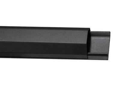 KABELGOOT - ALUMINIUM - 33 mm x 1100 mm - ZWART (WBCC04B)