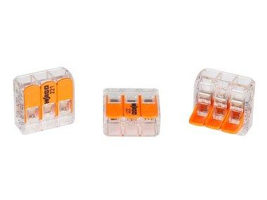 COMPACTE VERBINDINGSKLEM 3 x 0.2 - 4 mm² VOOR ALLE KABELSOORTEN (WG221413)