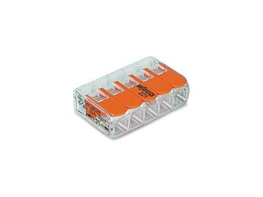 COMPACTE VERBINDINGSKLEM 5 x 0.2 - 4 mm² VOOR ALLE KABELSOORTEN (WG221415)