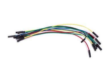 SET DRAADBRUGGEN - 1 pin VROUWELIJK NAAR VROUWELIJK - 5.9 (15 cm) - 10 st. (WJW012)