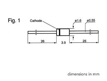 ZENER DIODE 3V9 - 500mW (ZA3V9)