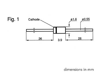 ZENER DIODE 6V2 - 500mW (ZA6V2)