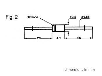 ZENER DIODE 27V - 1.3W (ZB27V0)