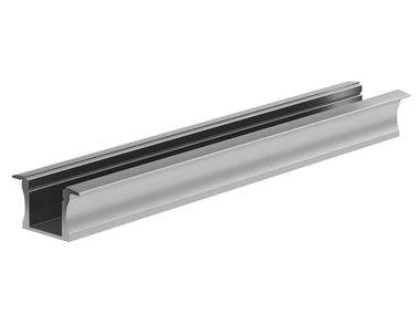 RECESSED SLIMLINE 15 mm - ALUMINIUM-INBOUWPROFIEL VOOR LEDSTRIP - GEANODISEERD ALUMINIUM - ZILVER - 2 m (AL-RSL15-2)