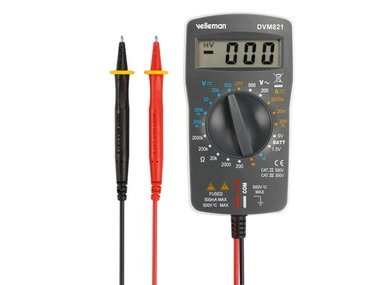 DIGITALE MULTIMETER - CAT. II 500 V / CAT III 300 V - 1999 COUNTS (DVM821)