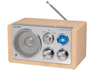TR-64LIGHTWOOD - RADIO MET ELEGANT DESIGN - HOUTKLEUR (DV-10405)