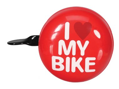 BICYCLE BELL - 'I LOVE MY BIKE' - Ø 8 cm - RED (BR1)