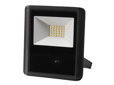 LED-SCHIJNWERPER VOOR BUITENSHUIS - 20 W, NEUTRAALWIT - ZWART - MICROGOLFSENSOR (LEDA7002NW-BM)