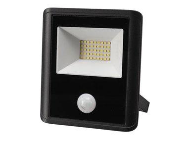 LED-SCHIJNWERPER VOOR BUITENSHUIS - 30 W, NEUTRAALWIT - ZWART - PIR-SENSOR (LEDA7003NW-BP)