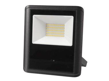 LED-SCHIJNWERPER VOOR BUITENSHUIS - 50 W, NEUTRAALWIT - ZWART - MICROGOLFSENSOR (LEDA7005NW-BM)
