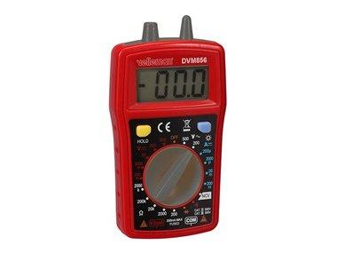DIGITALE MULTIMETER - CAT III 300 V / CAT II 500 V - 10 A - 1999 COUNTS - NCV / LED / DATA HOLD  / ACHTERGRONDVERLICHTING / ZOEMER (DVM856)