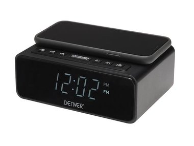 CRQ-105 FM CLOCK RADIO WITH QI CHARGING (DV-10909)