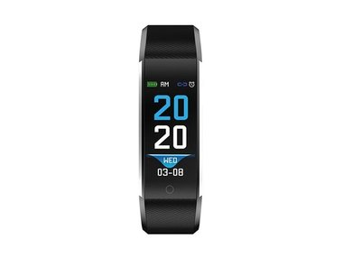 BFH-16BLACK - BLUETOOTH® FITNESS BAND WITH HEART RATE MONITOR & COLOUR DISPLAY (DV-30203)