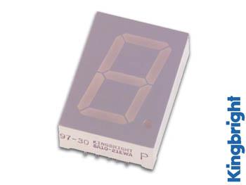 1-DIGIT DISPLAY 25mm GEMEENSCHAPPELIJKE ANODE SUPERGROEN (SA10-21SGWA)