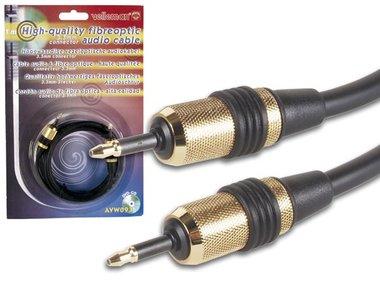 VEZELOPTISCHE KABEL, 2 x 3.5mm OPTISCHE MANNELIJKE CONNECTORS, 1m (AVW093)